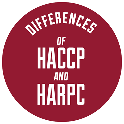 Differences of HACCP and HARPC