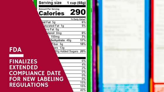 FDA Finalizes Extended Compliance Date For New Labeling Regulations