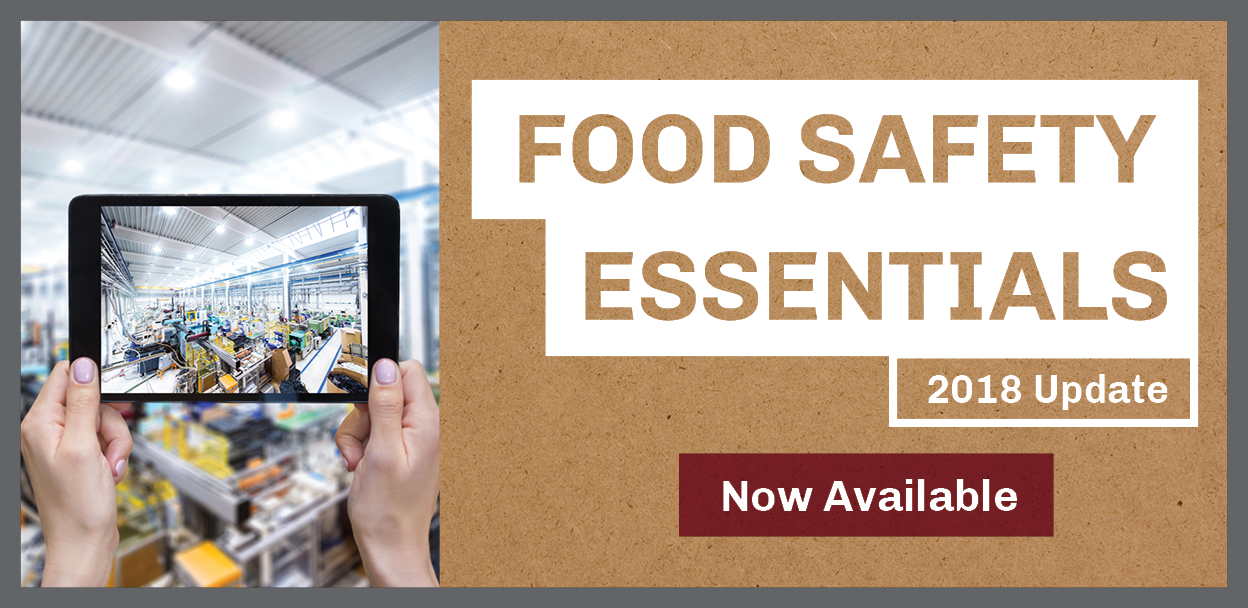 Food Safety Essentials 2018 Update Now Available