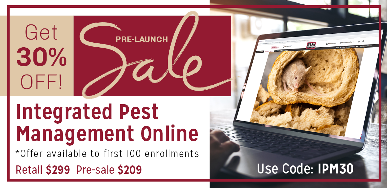 Get 30% off! Pre-Sale Launch for Integrated Pest Management Online *Offer available to first 100 enrollments - Retail $299 Pre-sale: $209